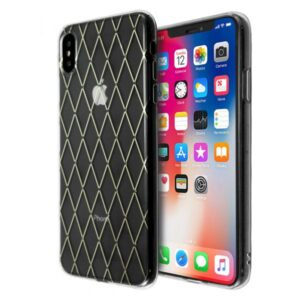 Merge Diamond Pattern Case for iPhone XS Max (Gold)